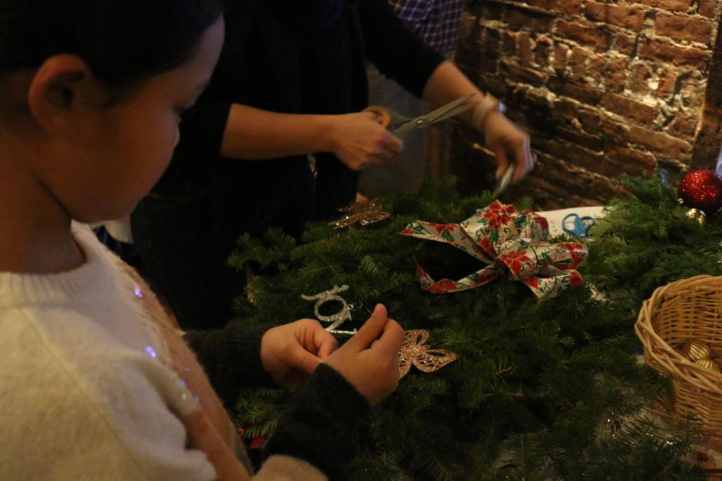 PJ Clarke's Wreath Decorating